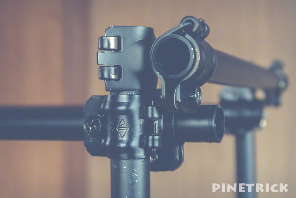 単管パイプ クランプ 薪棚 艶消し黒 diy 19.1mm
