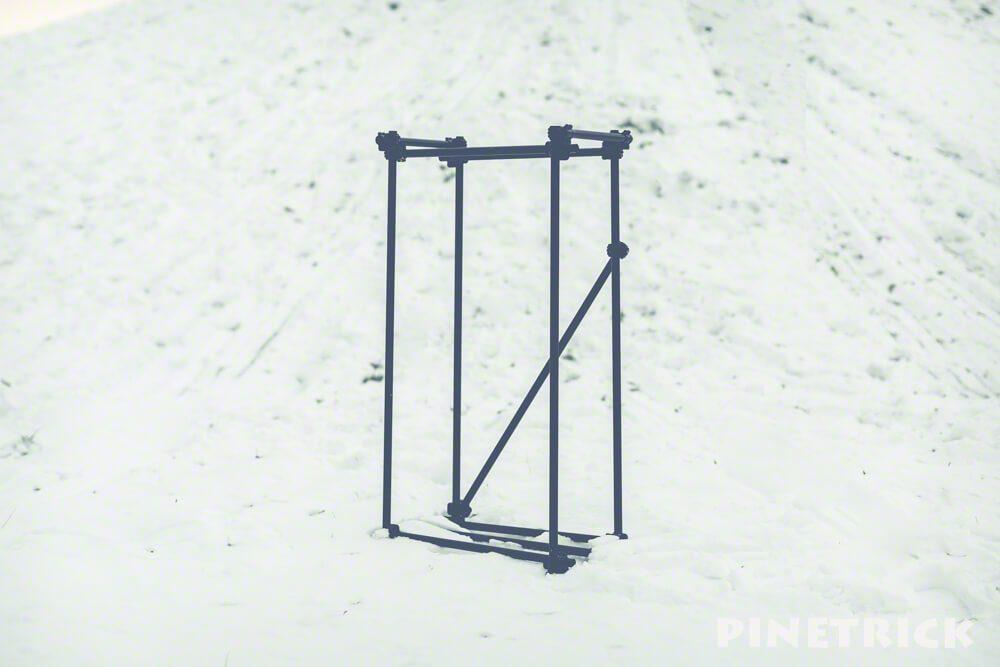 単管あパイプ 薪棚 クランプ 19.1mm diy 雪 艶消し黒