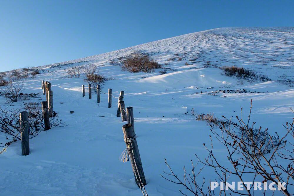 樽前山 2019年 1月 初登り 登山 杭