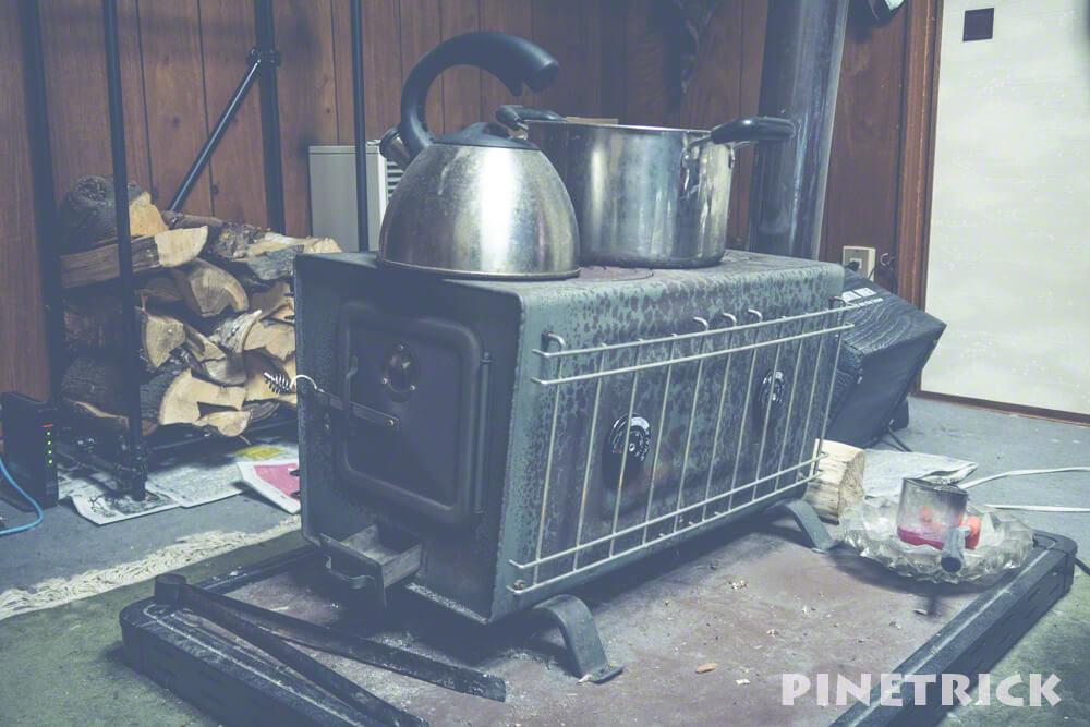 薪ストーブ やかん オガライト 室内 家庭用