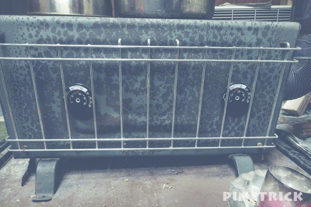 薪ストーブ 温度計 マグネット式 オガライト