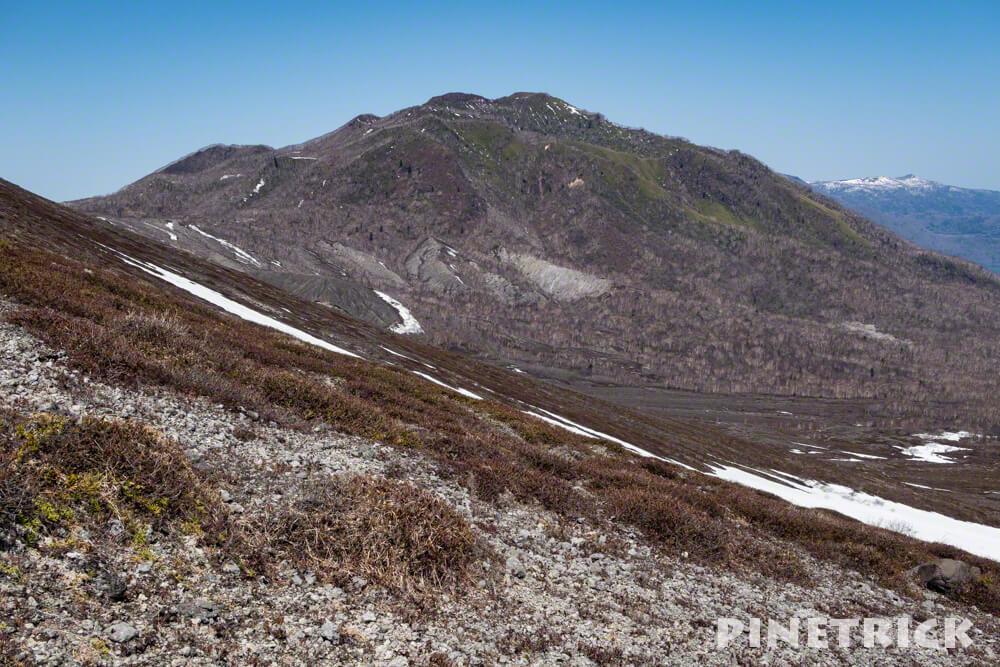 風不死岳 樽前山 登山道