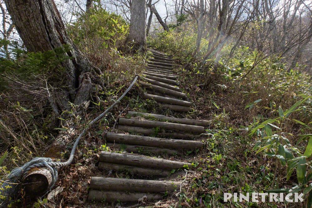 神居尻山 登山 北海道 階段 Bコース