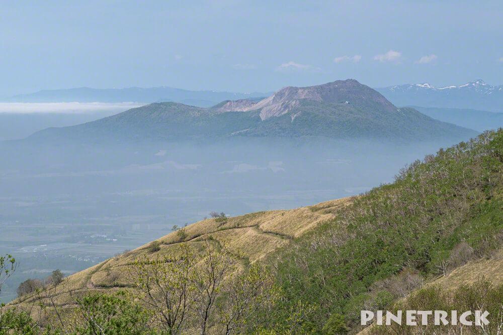 伊達紋別岳 稜線 昭和新山 登山 霧