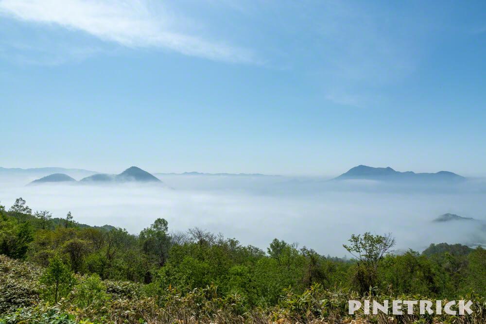 洞爺湖 中島 昭和新山 靄 霧