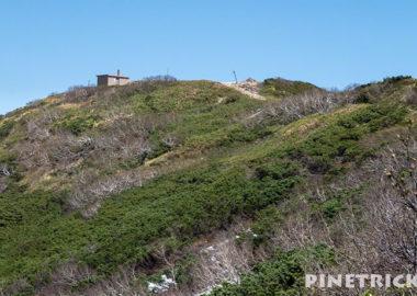 ニセコアンヌプリ 避難小屋 登山 5月