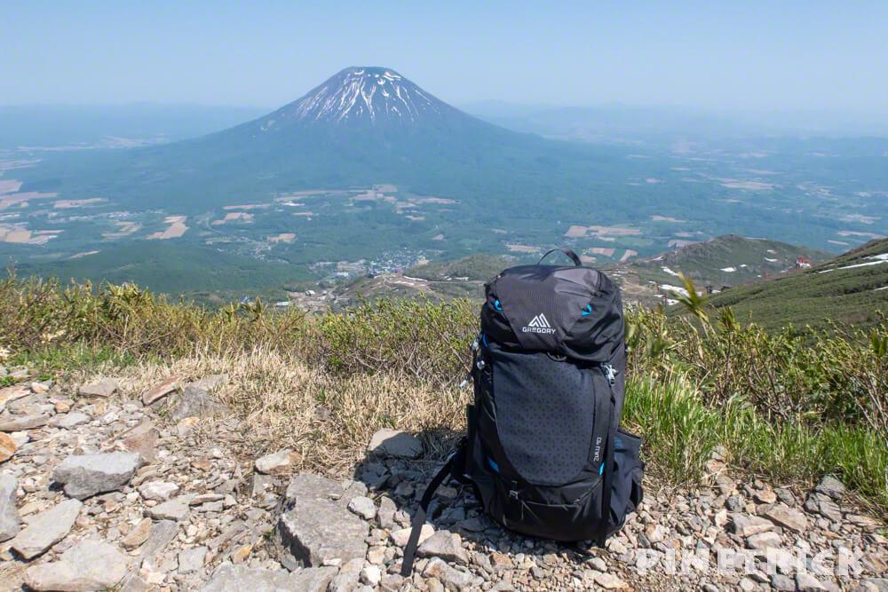 ニセコアンヌプリ 山頂 羊蹄山 グレゴリー zulu 40L ザック 5月