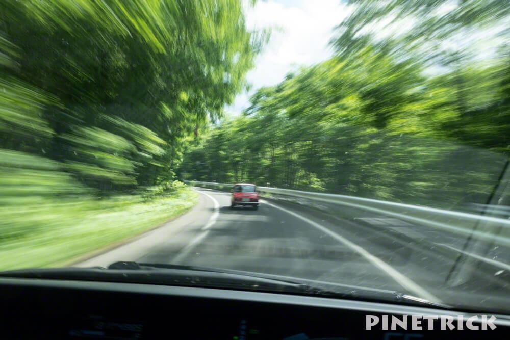 支笏湖 千歳市 クラシックカー 流し撮り ブレ ドライブ