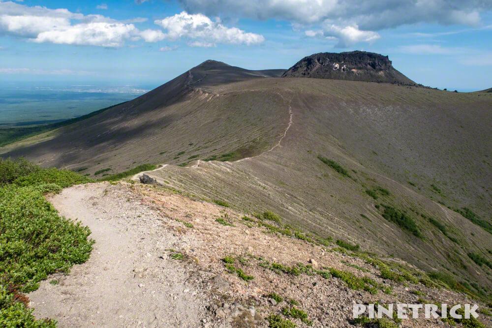 樽前山 溶岩ドーム 932峰 登山道 トレッキング