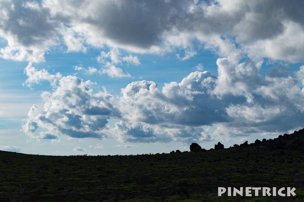 樽前山 噴石 雲 トレッキング 硫黄臭