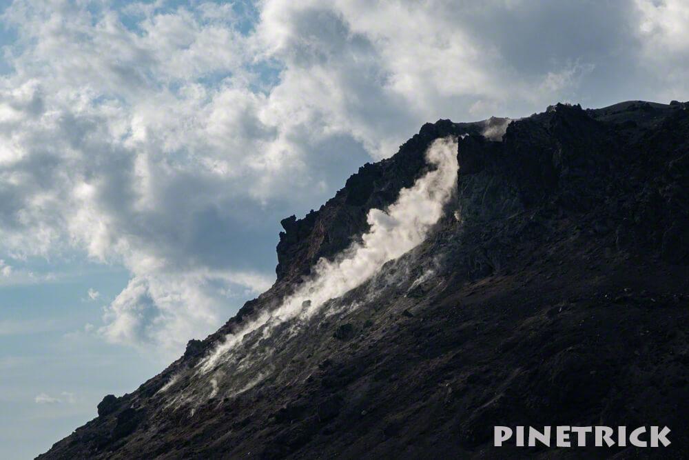 樽前山 溶岩ドーム 噴煙 硫黄
