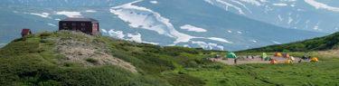白雲岳避難小屋 テント泊 北海道 登山