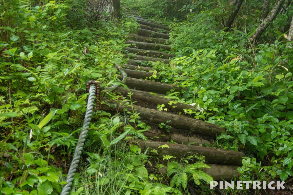神居尻山 木階段 Bコース 道民の森 登山