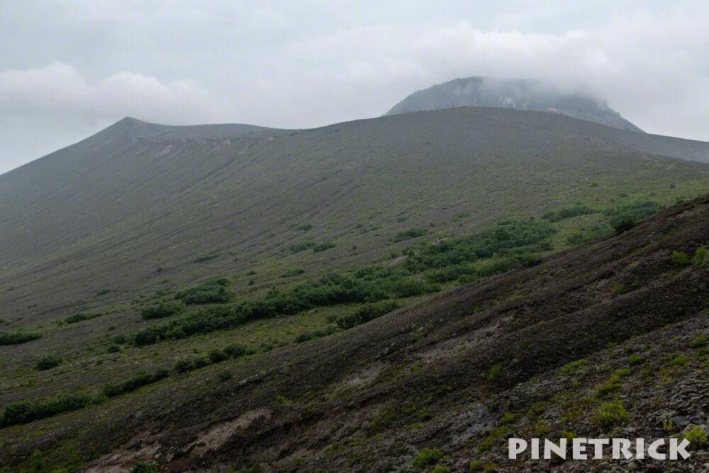 樽前山 東山山頂 溶岩ドーム 登山 分岐
