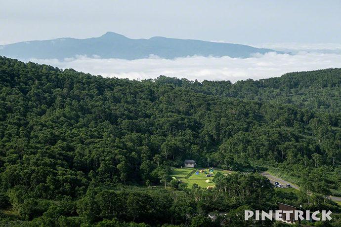 イワオヌプリ 階段 昆布岳 ニセコ五色温泉野営場 テント