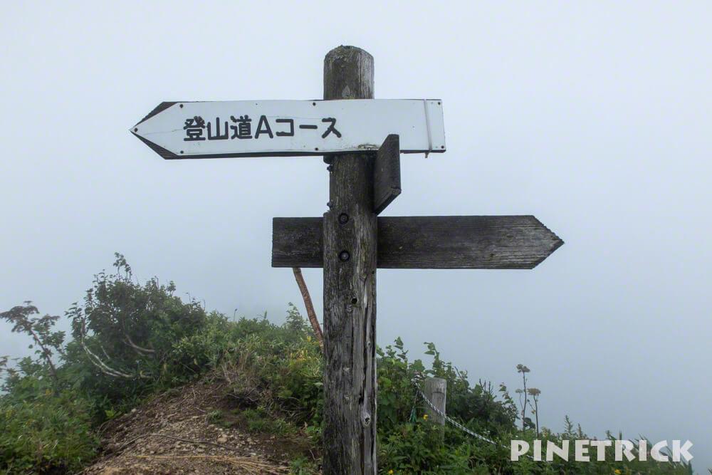 神居尻山 分岐 Aコース ピンネシリ 山頂
