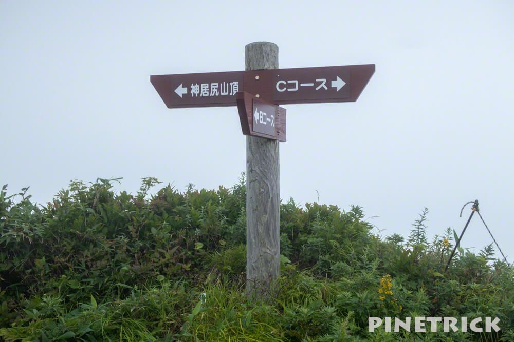 神居尻山 BCコース分岐 登山 道民の森 神居尻地区