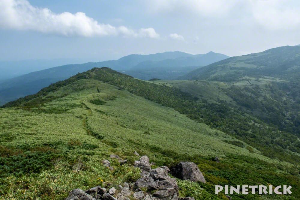 白樺山 シャクナゲ岳 稜線 ニセコ 登山