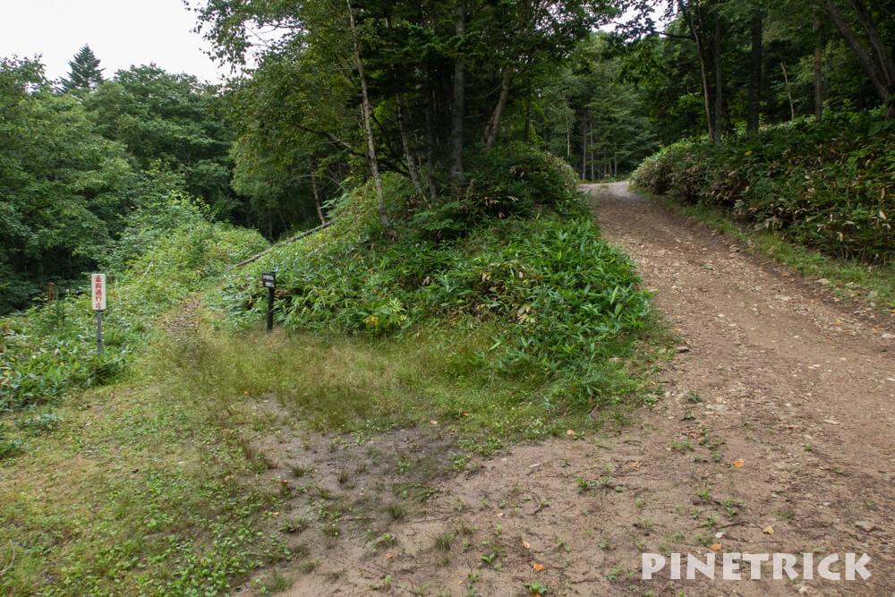 ニペソツ山 登山 幌加温泉コース 幌加コース登山道取付 第二駐車場