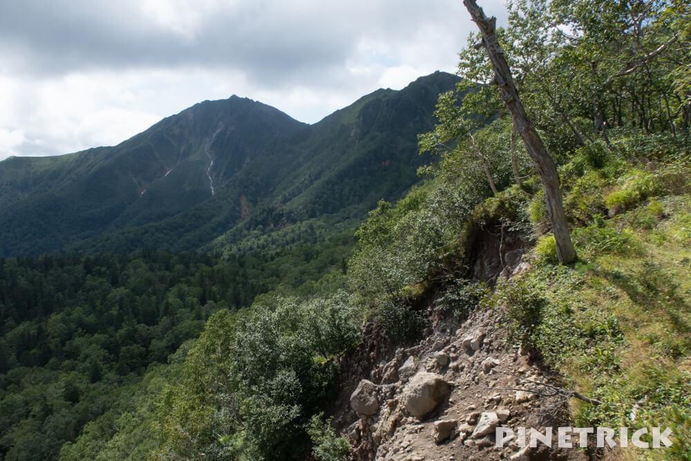 ニペソツ山 幌加温泉コース 登山 崖 2019年