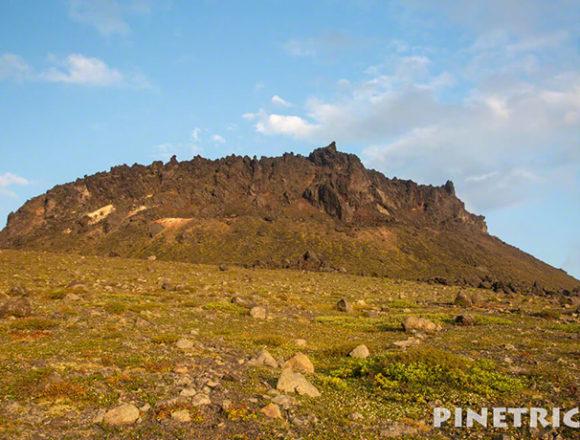 樽前山 サンセット登山 北海道 溶岩ドーム 9月 噴煙
