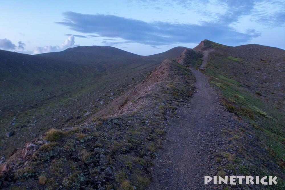 樽前山 サンセット登山 東山山頂 トレッキング 北海道
