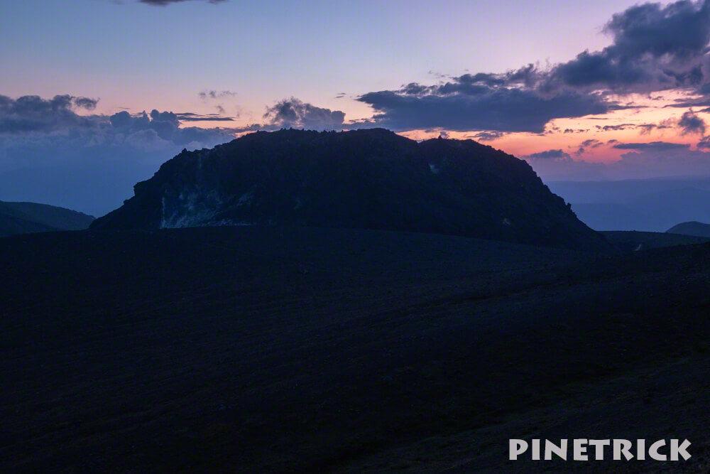 樽前山 サンセット登山 東山分岐 溶岩ドーム