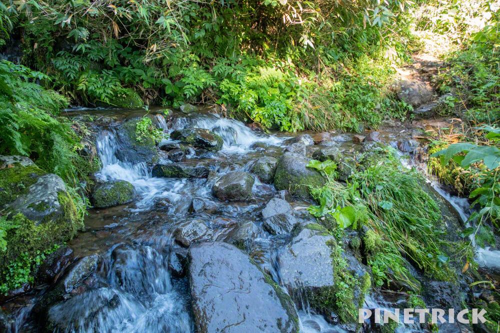 雨竜沼湿原 登山道 小川 北海道