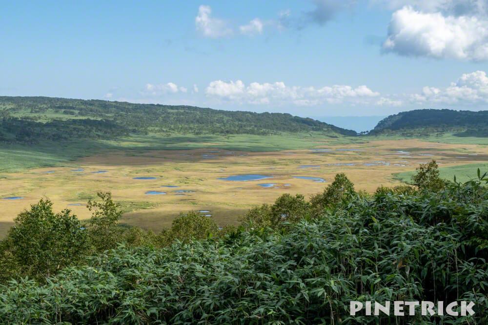 雨竜沼湿原 展望台 ハイキング 休憩 登山 北海道