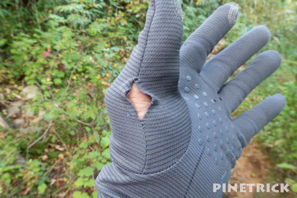 モンベル 縫製 WIC.クール ライトグローブ 手袋