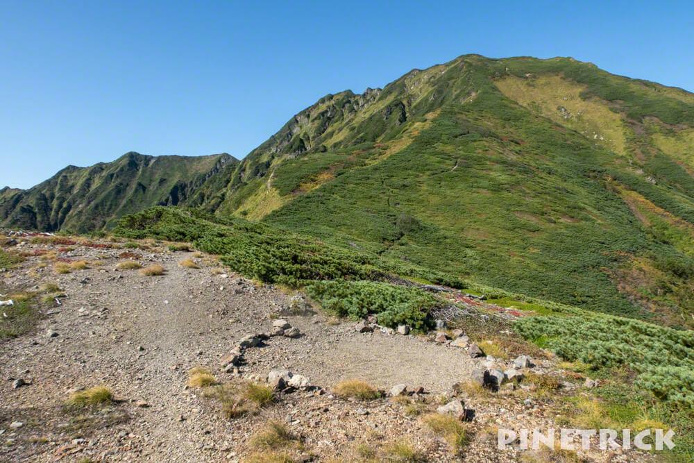 石狩岳 シュナイダーコース 登山 テント泊 北海道 トレッキング