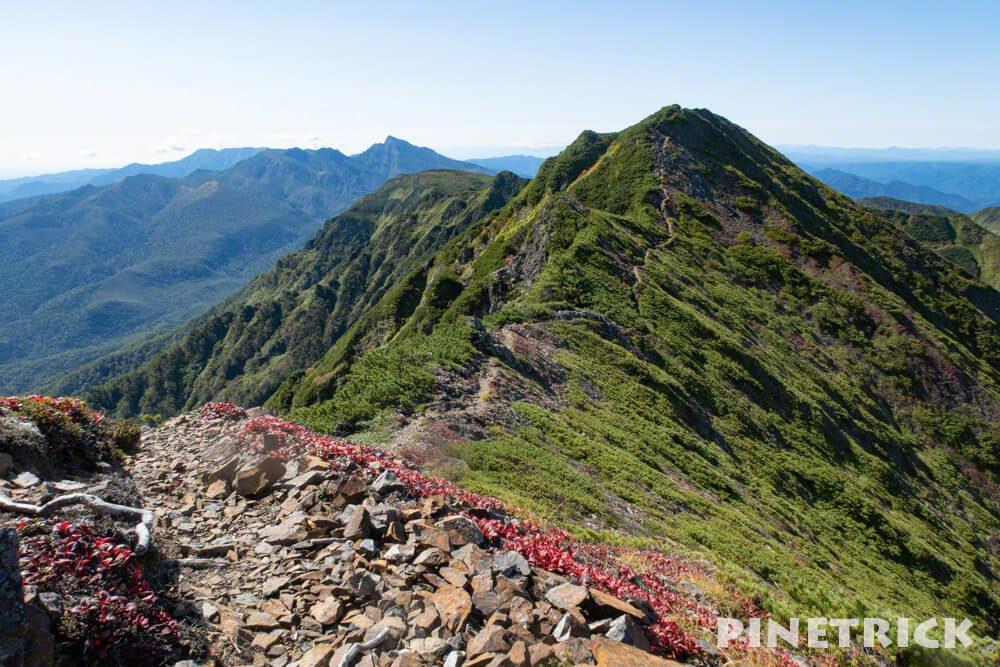 石狩岳 1967ピーク 登山 北海道 山頂 トレッキング シュナイダーコース