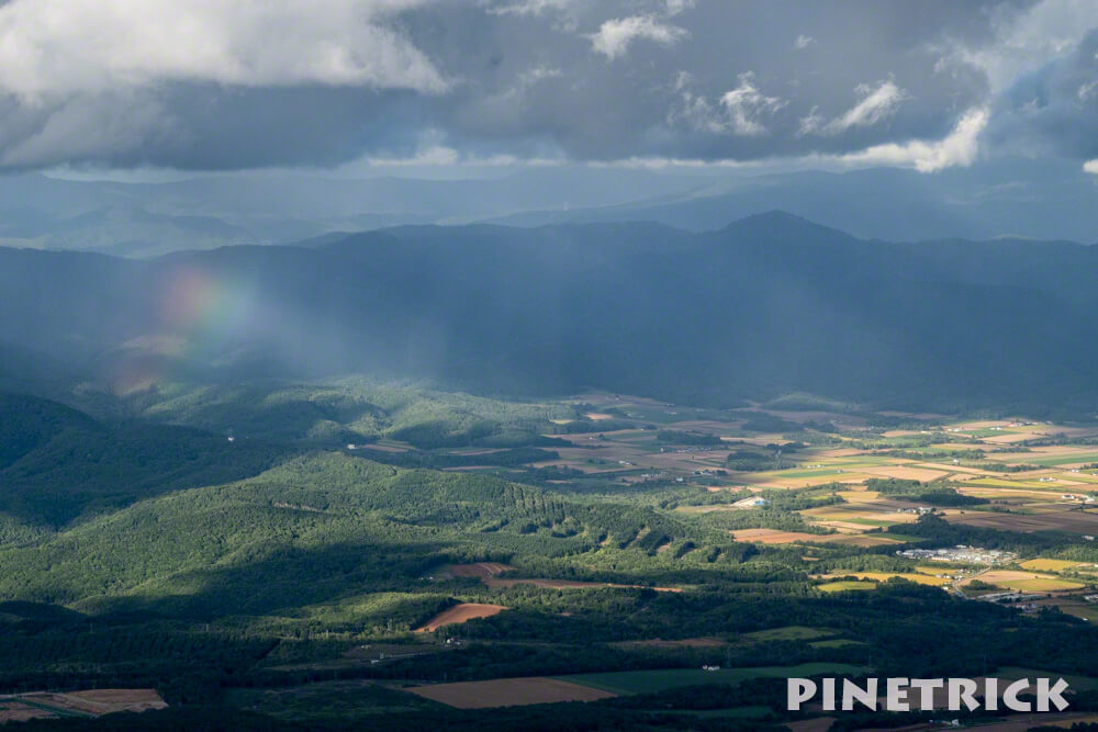 ニセコアンヌプリ 虹 通り雨 登山 ハイキング トレッキング アウトドア