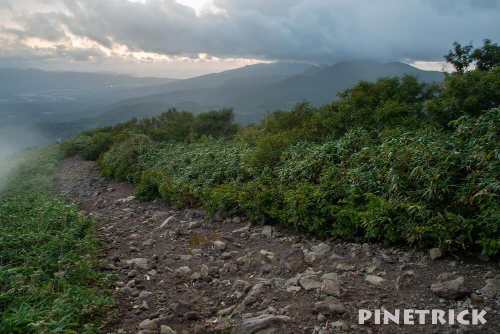 ニセコアンヌプリ サンセット登山 下山 北海道 ニセコ連山 登山道