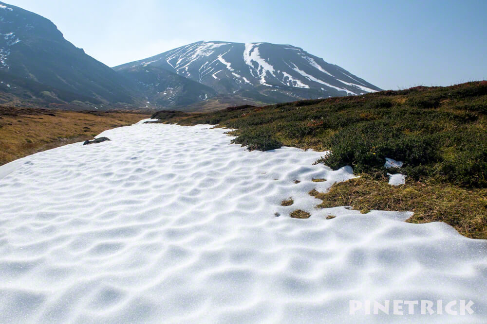 大雪山 旭岳 ロープウェイ 紅葉 北海道 登山  観光名所 絶景 裾合平 残雪