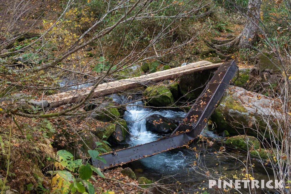 愛山渓温泉 登山 樹林帯 紅葉 沼の平 三十三曲りコース 昇天の滝 村雨の滝 永山岳