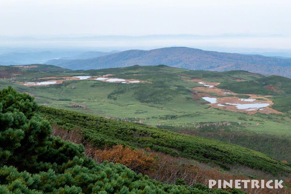 愛山渓温泉 登山 紅葉 沼の平 三十三曲りコース 永山岳
