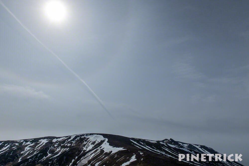 大雪山 日暈 雲 神秘的
