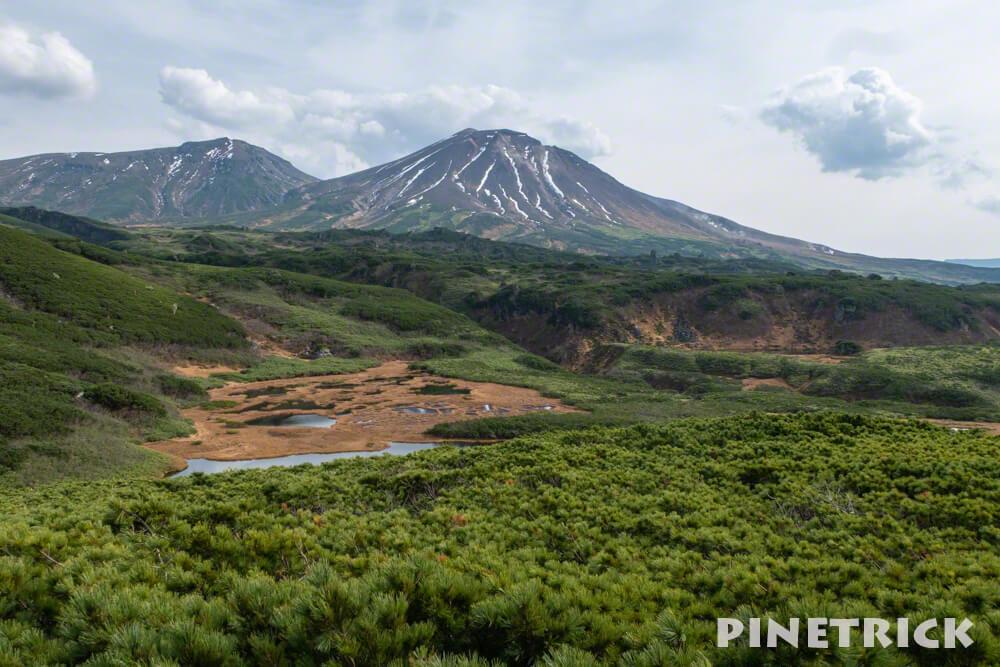 旭岳 大雪山 北海道 登山 沼の平 沼 紅葉