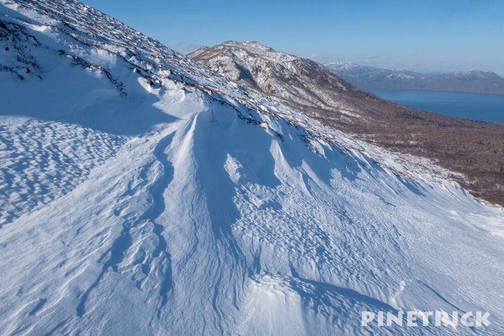 風不死岳 登山 樽前山 冬山 シュカブラ 北海道