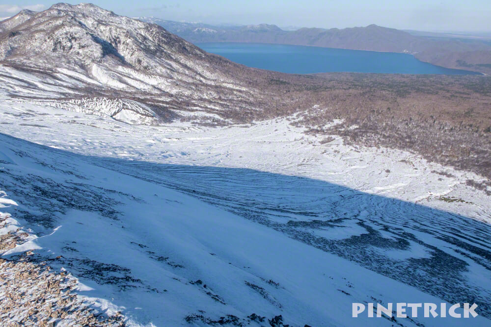 樽前山 お花畑コース 冬山 登山 北海道