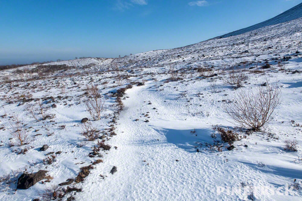 樽前山 お花畑 冬山 トレッキング 登山 北海道