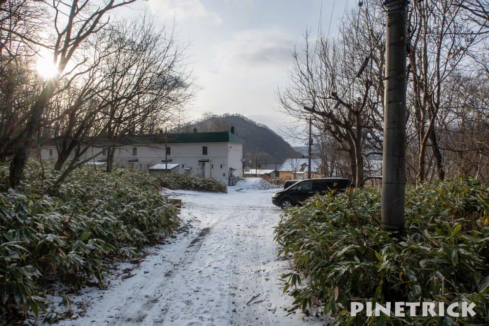 紋別岳 千歳市 支笏湖 住宅街 駐車スペース 登山 冬山 北海道