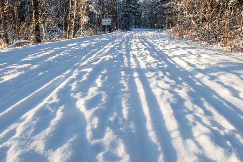 樽前山 登山 冬山 林道歩き 道道141号線 樽前錦岡線 徒歩