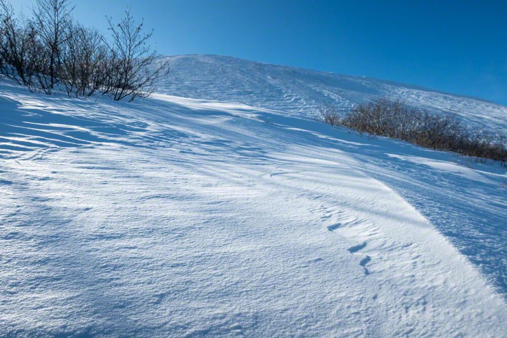 樽前山 冬山 北海道 直登 登山