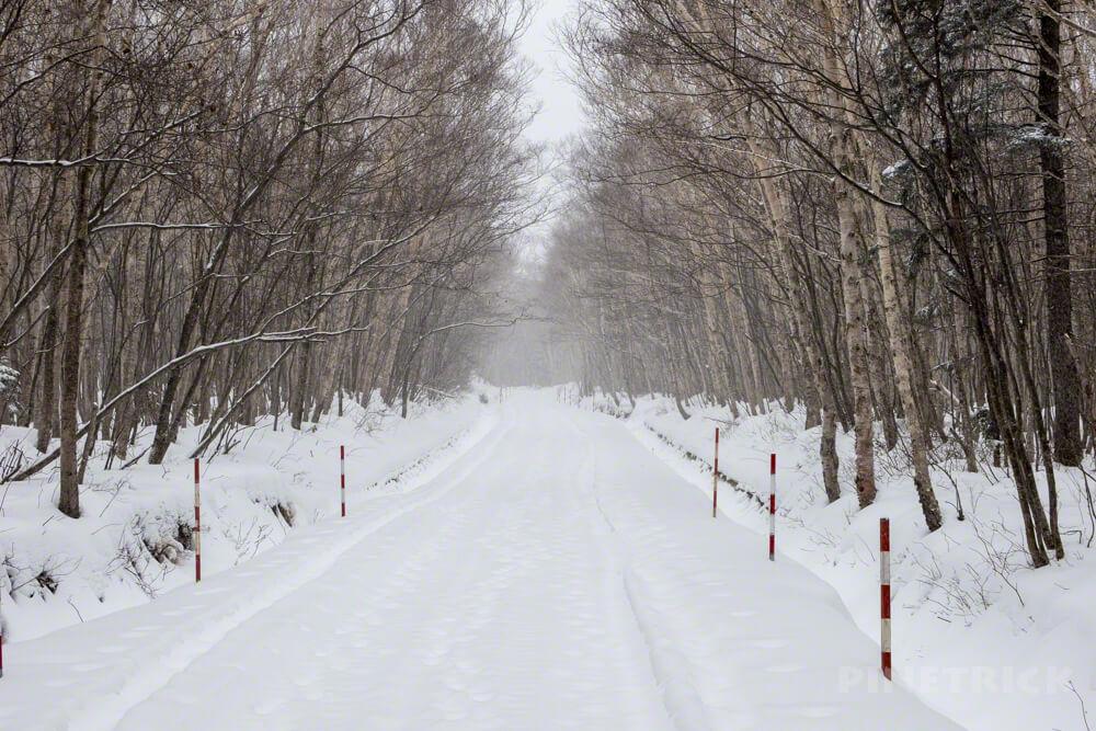 樽前山 登山 冬山 北海道 林道