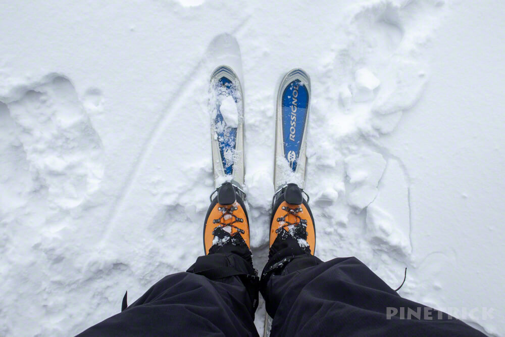 ミニスキー ファンスキー ロシニョール 樽前山 冬山 北海道