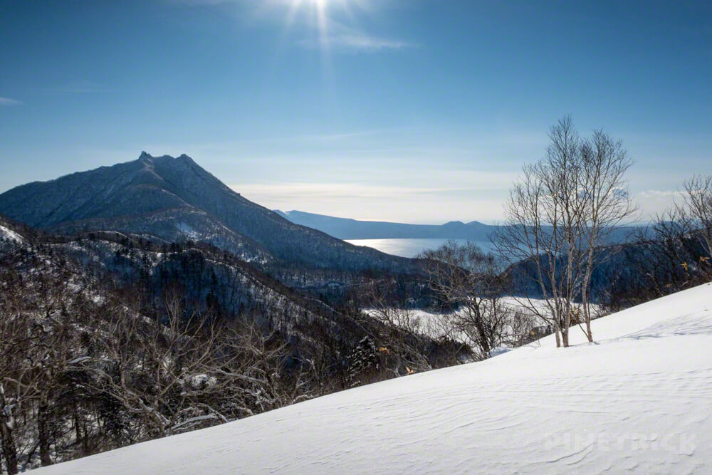漁岳 冬山 登山 北海道 恵庭岳 支笏湖 オコタンぺ湖