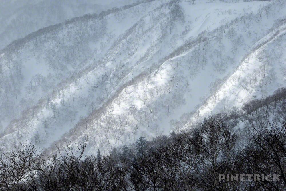 漁岳 登山 冬山 北海道