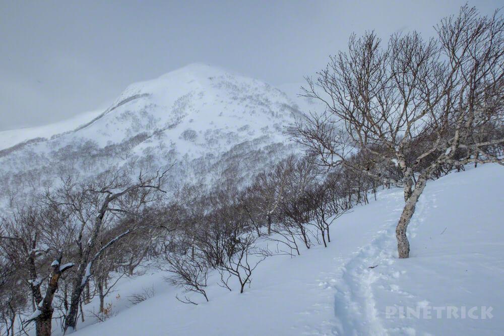 漁岳 登山 冬山 1175ピーク トレース 山頂